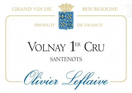 Volnay Premier Cru Santenots - Maison Olivier Leflaive - 2011 - Rouge