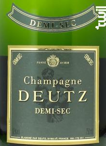 Demi-Sec - Champagne Deutz - 2008 - Effervescent