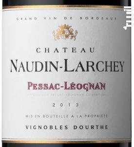 Château Naudin Larchey - Vignobles Dourthe - Château Naudin Larchey - 2015 - Rouge