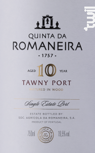 10 Year Old Tawny - QUINTA DA ROMANEIRA - Non millésimé - Rouge