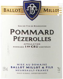 Pommard Premier Cru Pézerolles - Domaine Ballot-Millot - 2011 - Rouge