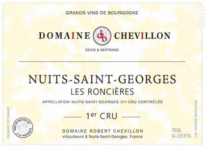 NUITS SAINT GEORGES 1er cru Les Roncières - Domaine Robert Chevillon - 2011 - Rouge