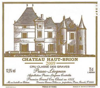 Château Haut-Brion - Domaines Clarence Dillon- Château Haut-Brion - 2009 - Rouge