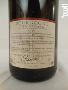 Bourgogne-Côtes-d'Auxerre - La Cave du Maître de Poste - Philippe Sorin - 2011 - Rouge