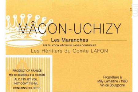 Mâcon-Uchizy Les Maranges - Domaine Les Héritiers du Comte Lafon - 2013 - Blanc