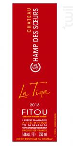 La Tina - Château Champ des Soeurs - 2016 - Rouge