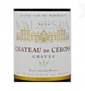 Château de Cérons - Château de Cérons - 2015 - Rouge