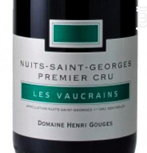 Nuits-Saint-Georges 1er Cru Les Vaucrains - Domaine Henri Gouges - 2012 - Rouge
