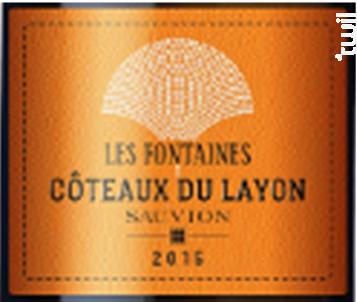 Coteaux du Layon Les Fontaines - SAUVION - CHATEAU DU CLERAY - 2018 - Blanc