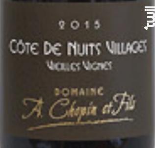 Vieilles Vignes Chopin - Domaine Chopin et Fils - 2017 - Rouge