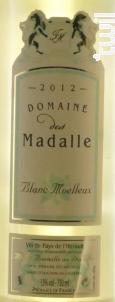 Moelleux Perle - Domaine des Madalle - 2016 - Blanc
