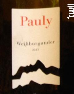Weissburgunder - AXEL PAULY - 2014 - Blanc