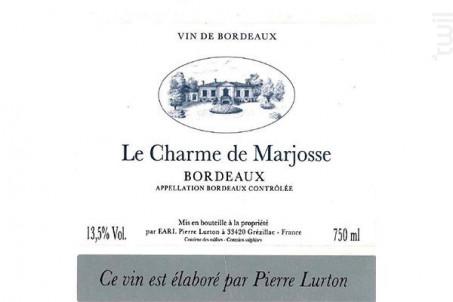 Le charme de marjosse - Château Marjosse - 2014 - Rouge