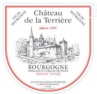Bourgogne Pinot Noir - Château de la Terrière - 2018 - Rouge