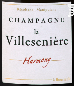 Harmony • Extra Brut - Champagne La Villesenière - 2012 - Effervescent