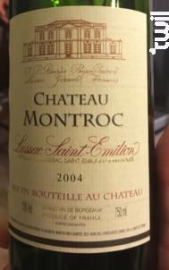 Château Montroc - J.-P. Rivière - Château Montroc - 1992 - Rouge