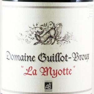 La Myotte - Domaine Guillot-Broux - 2017 - Rouge