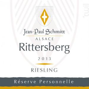 Rieslling Rittersberg Réserve Personnelle - Domaine Jean-Paul Schmitt - 2014 - Blanc