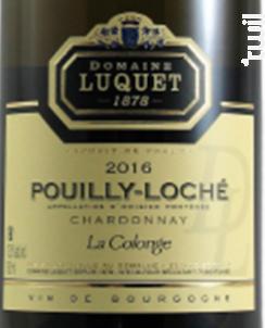 La Colonge - Domaine Luquet depuis 1878 - 2016 - Blanc