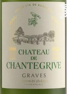 Château de Chantegrive - Château de Chantegrive - 2012 - Blanc