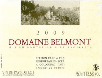 Domaine Belmont - Domaine Belmont - 2009 - Rouge