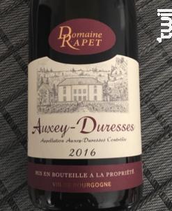 Auxey-Duresses - Domaine Rapet François & Fils - 2017 - Rouge