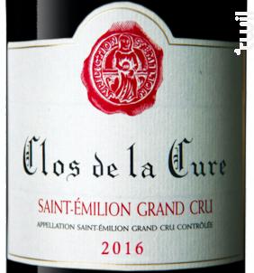 Clos de la Cure - Domaines Bouyer - 2016 - Rouge