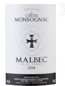 Les Essentielles- MALBEC - Pavillon la Croix Monsognac - 2018 - Rosé
