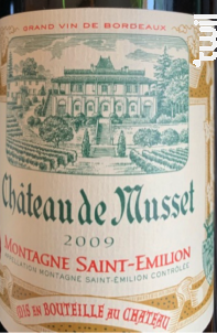 Château de Musset - Château de Musset - 2005 - Rouge