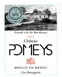 CHATEAU POMEYS - Vignobles Lalaudey et Pomeys - 2012 - Rouge