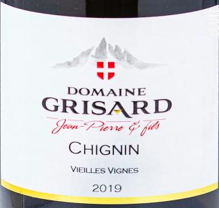 Chignin - Vieilles Vignes - Domaine Grisard Jean-Pierre et fils - 2020 - Blanc