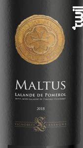 Château Maltus - Vignobles Lassagne - 2018 - Rouge