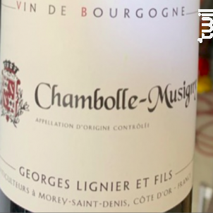 Chambolle Musigny - Georges Lignier & fils - 2017 - Rouge