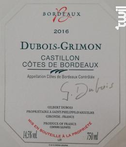 Dubois-Grimon - Château Grimon - 2016 - Rouge