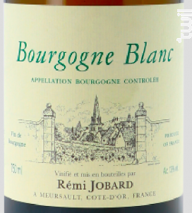 Bourgogne - Domaine Rémi Jobard - 2017 - Blanc