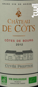 Chateau de Côts Cuvée Prestige - Château de Côts - 2015 - Rouge