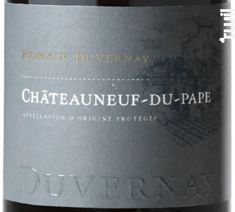 Châteauneuf-du-Pape - Romain Duvernay - 2016 - Rouge