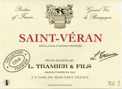 Saint Véran - Maison L. Tramier et Fils - 2015 - Blanc