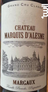 Château Marquis d'Alesme - Château Marquis d'Alesme - 2014 - Rouge