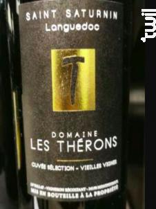 Saint Saturnin Cuvée Sélection Vieilles Vignes - Domaine Les Thérons - 2015 - Rouge