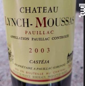 Château Lynch-Moussas - Château Lynch-Moussas - 2003 - Rouge