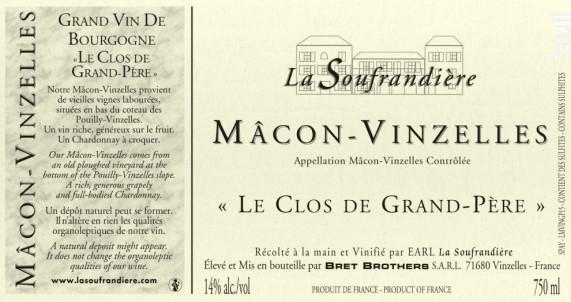 Clos De Grand Pere Soufrandiere - Bret Brothers- La Soufrandière - 2017 - Blanc