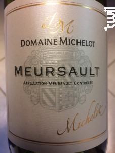 Meursault - Domaine Michelot - 2017 - Blanc