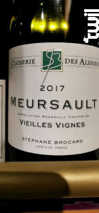 Meursault Vieilles Vignes - Stéphane Brocard - Closerie des Alisiers - 2017 - Blanc