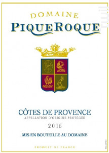 Domaine de PiqueRoque - Domaine de Piqueroque - 2017 - Rosé