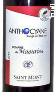 Anthocyane - Domaine de Maouries - 2012 - Rouge