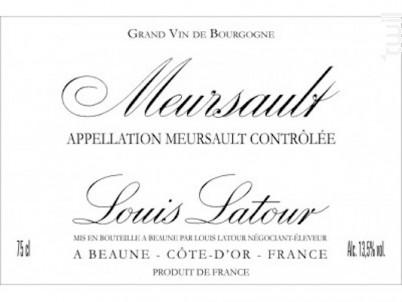 Meursault - Maison Louis Latour - 2012 - Rouge