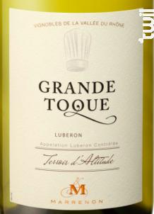 Grande Toque - Marrenon - 2018 - Blanc