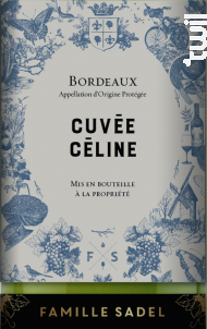 Cuvée Céline - Famille Sadel - 2017 - Blanc