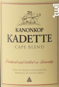 Kadette - Cape Blend - KANONKOP - 2018 - Rouge